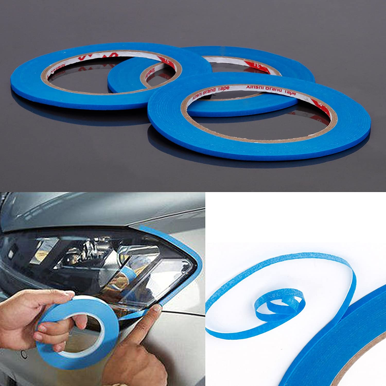 3 Rolle Zierlinienband Konturenband Abdeckband 5mm jede 50m Repair Tape