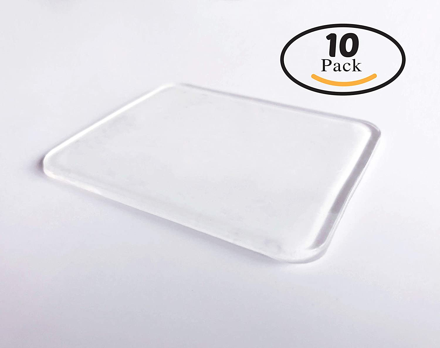 Amazon com 10 super sticky silicone gel pads clear anti slip gel pads auto gel holders durable washable cell pad transparent mp3 players accessories