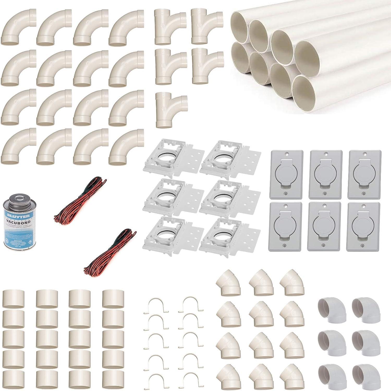 Kit de montaje de aspirador central para 6 tubos de aspiración con ...