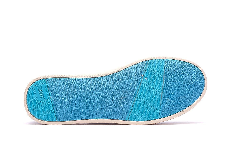 050d02a6fd9d9 TOMS Women's Blue Canvas Palms Paso Sneakers 10007893