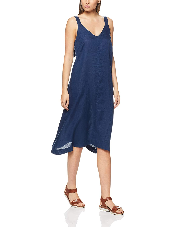 1cd3d5043f Jag Women s Linen Trapeze MIDI Dress  Amazon.com.au  Fashion