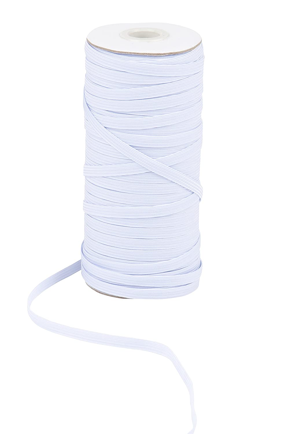Clothes White Sewing Elastic Band 109 Yards in Length 0.5 Inches Wide Waistband Elastic Spool Braided Stretchy High Elasticity Roll for DIY Crafts