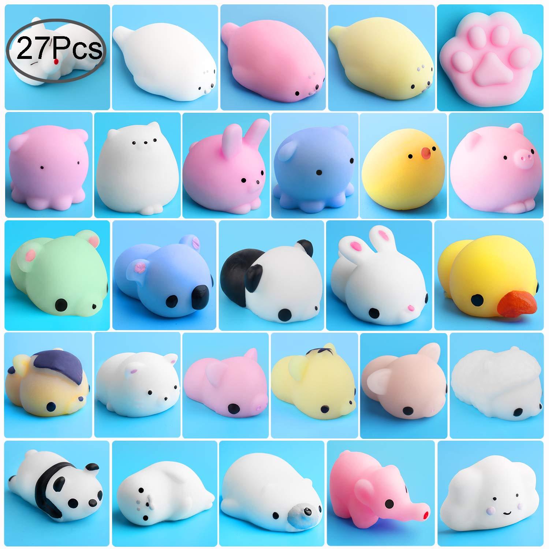 Mochi Animals Stress Toys, Outee 27 Piezas Mochi Squishy Toy ...