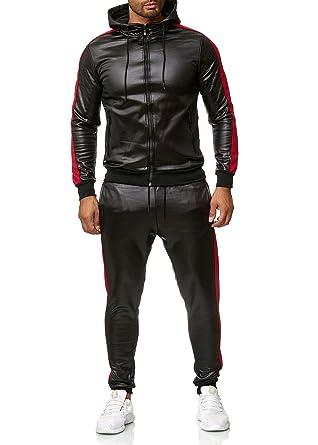 Herren Tracksuit Jogginganzug Streetwear Sweater Sreifen Trainingsanzug Casual