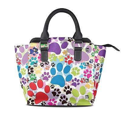 BeautyWJY Women Pu leather Top Handle Satchel Handbags Shoulder Bag Tote Purse