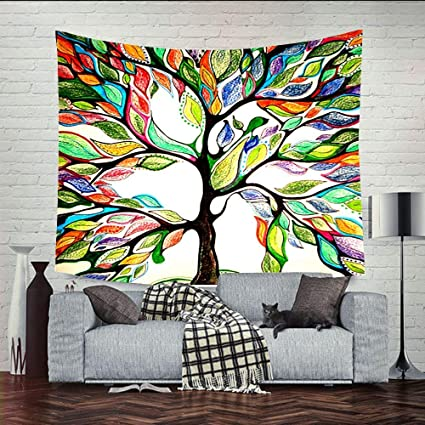 Amazon Liappo Colorful Life Tree Art Deco Introducing Clean New How To Clean Bedroom Walls