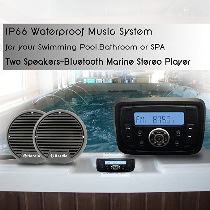 Stereo marino waterproof marine USB MP3 IPOD da esterno 12v barca bluetooth
