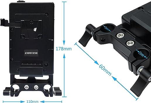 Andycine V Lock Mount Batterieplatte V Batterieadapter Elektronik