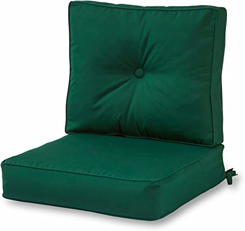 Greendale Home Fashions AZSC7830-FOREST Leaf Green Outdoor 2-Piece Sunbrella Fabric Deep Seat Cushion Set