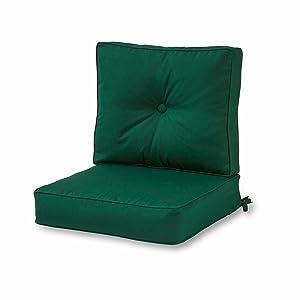 Greendale Home Fashions Outdoor Sunbrella Deep Seat Chair Cushion Set, Forest
