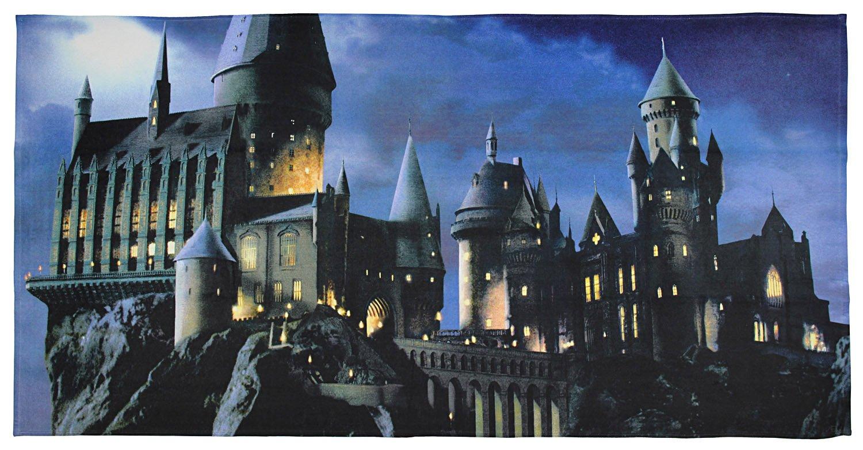 Northwest Enterprises Harry Potter Magical Hogwarts Photo Beach Towel or Beach Blanket 28'' x 58''