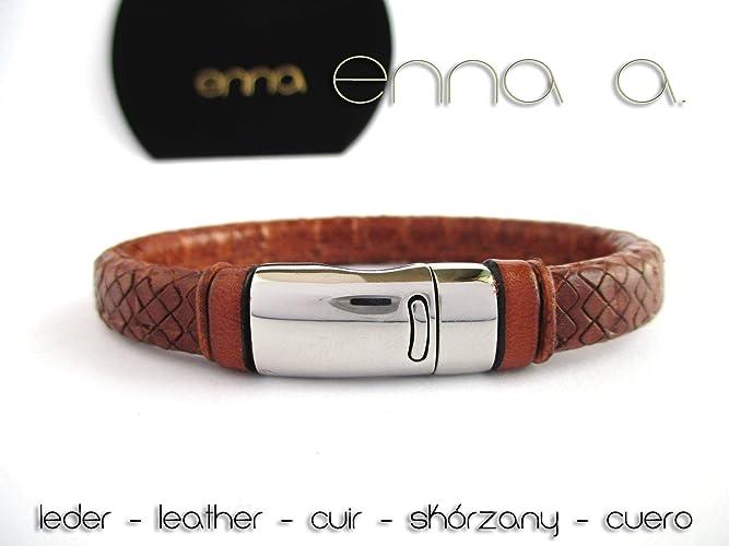 58449ee0fccb Pulsera cuero marrón, pulsera de cuero regaliz grabado, pulsera de ...