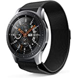 GOSETH compatible Samsung Galaxy Watch 46mm Strap, Milanese Loop Adjustable Stainless Steel Replacement Wristband Megnetic Clasp for Samsung Galaxy Watch SM-R800/SM-R805 Fitness Smart Watch (Black)