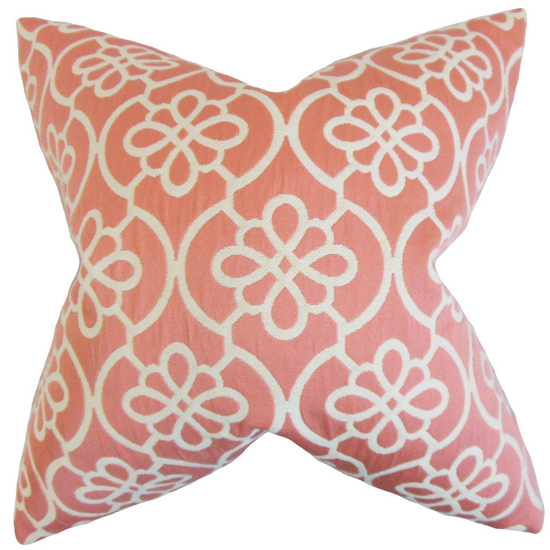 The枕コレクションp20-d-32748-coral-c69-p31 Indre幾何枕、コーラル、20