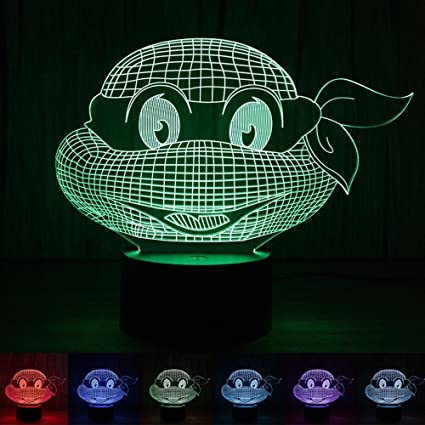 Amazon.com: biutefang luz de noche las tortugas Ninja botón ...
