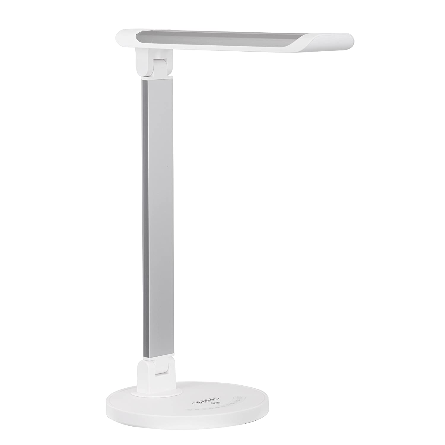 VonHaus LED Desk Lamp, Folding with USB Charger, 7 Level Dimmer, Touch Control and Timer, Aluminum Hobby Lamp, Bedroom, Office or Table Light