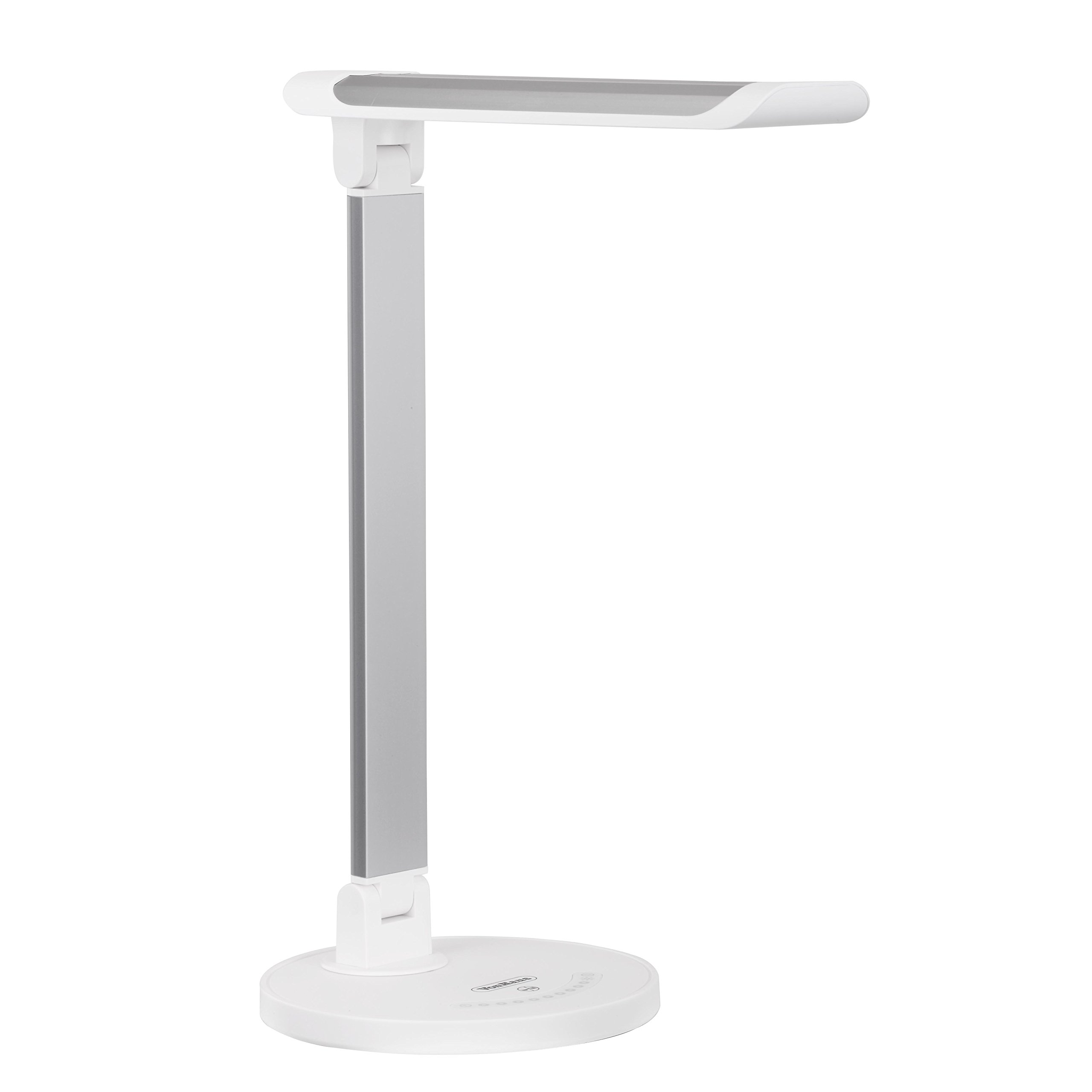 VonHaus LED Desk Lamp - Folding with USB Charger, 7 Level Dimmer, Touch Control and Timer - Aluminum Hobby Lamp, Bedroom, Office or Table Light