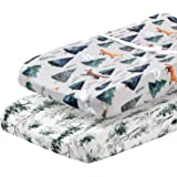 Pobi Baby - 2 Pack Premium Quality Changing Pad Cover - Ultra-Soft Cotton Blend, Stylish Animal Woodland Pattern, Safe…