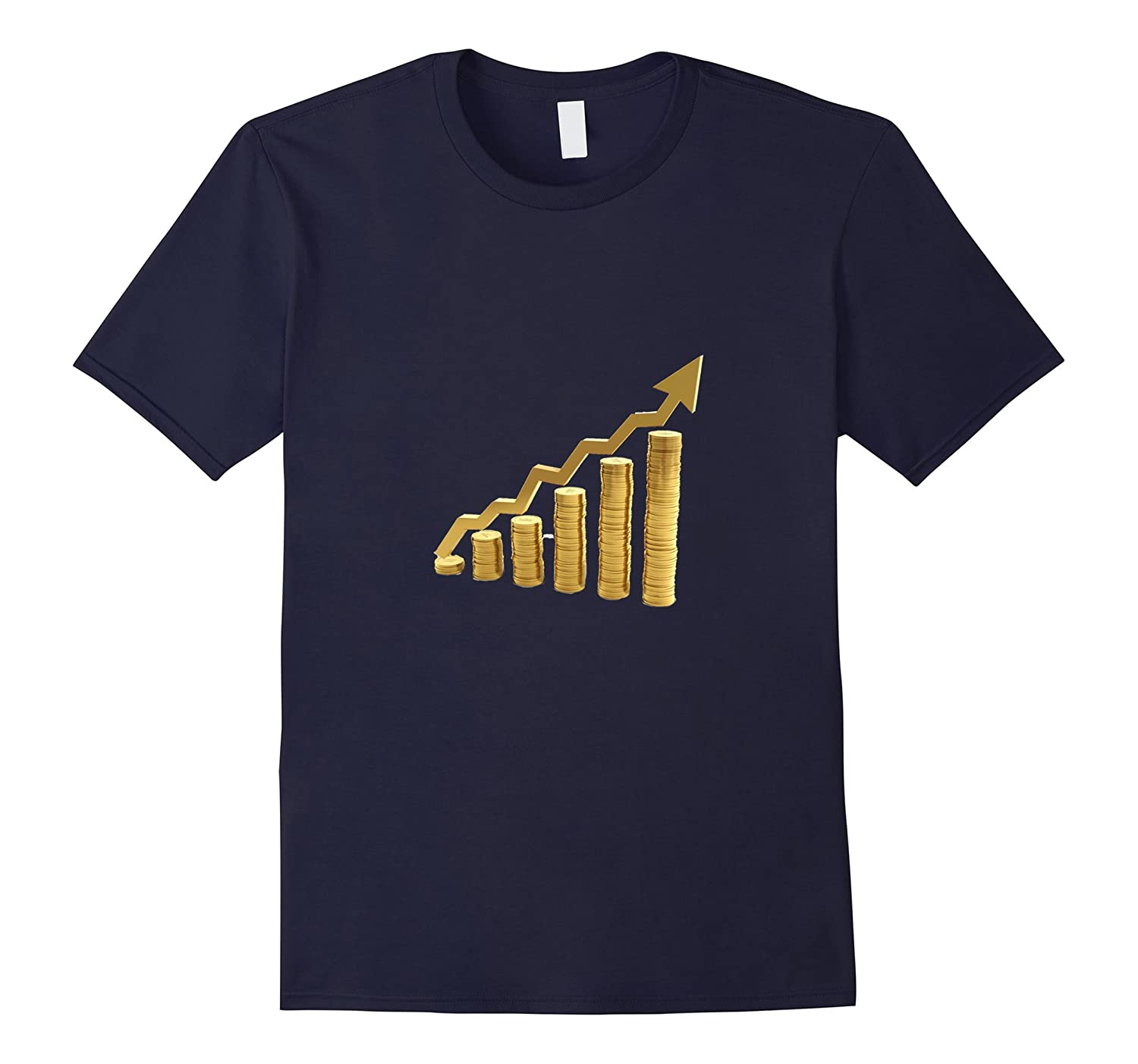 Line Bar Graph T-Shirt | Trend Up Increase Better-T-Shirt