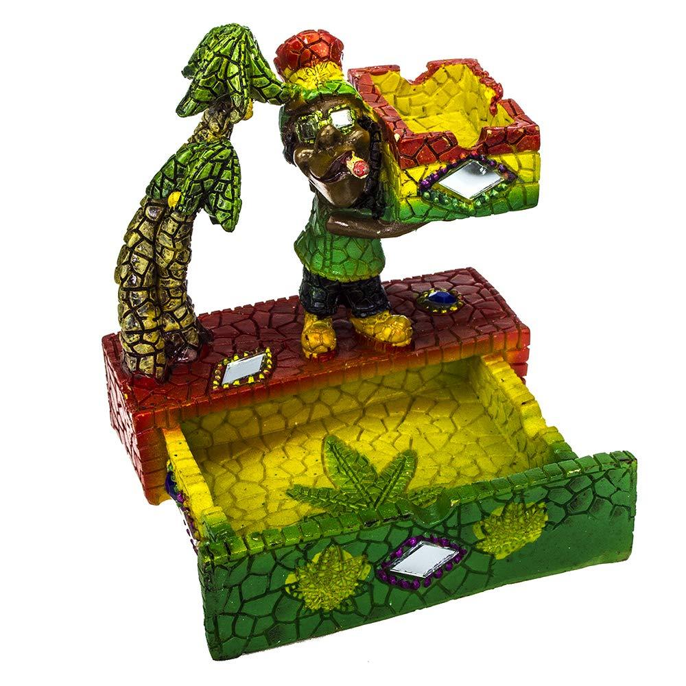 c51c8f2c3db Ashtray Rasta Figurine Ashtray - Jamaican Man Smoking Marijuana Joint  Ashtrays for Cigarette - Weed Hemp Pot Cannabis Party - Mosaic Multicolor  Ashtray and ...