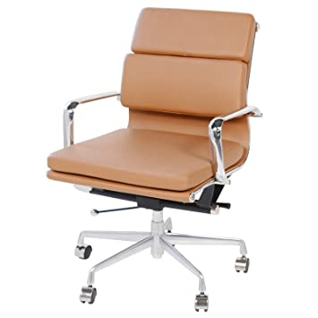 eames style office chair red lounge white cheap executive leather brown