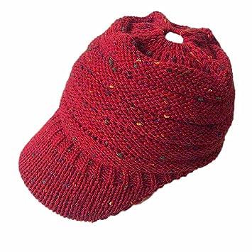 Gorro para hombres mujeres Baggy sombrero Invierno Lana tejer ...