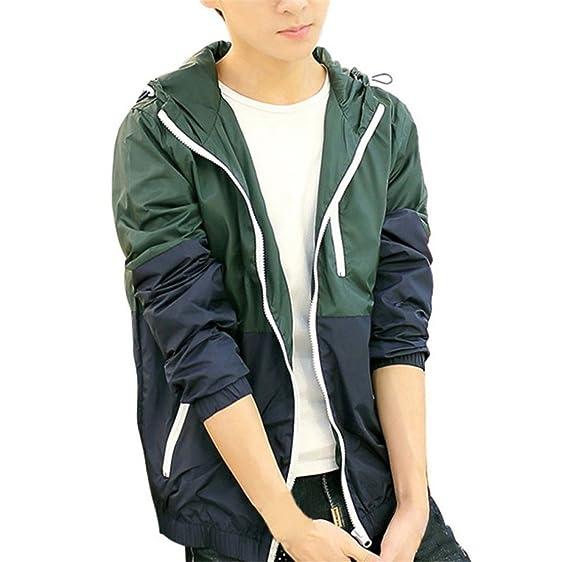 MRstriver Hot Selling Spring Autumn Mens Womens Summer Casual Jacket Hooded Jacket Fashion Thin Windbreaker Zipper