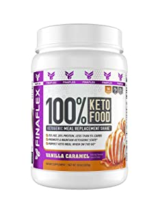 FINAFLEX 2173813 Finaflex 100% Keto Food Vanilla Caramel Dietary Supplement 14.8 Ounce, 14.8 Ounce