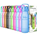 HoneyHolly Sport Water Bottle 32oz/1000ml 50oz/1500ml Running, Gym, Cycling, Outdoors, Camping, Large Outdoor Fitness Training Water Bottle, BPA Free Tritan Plastic Proof Lid Drinking Bottles