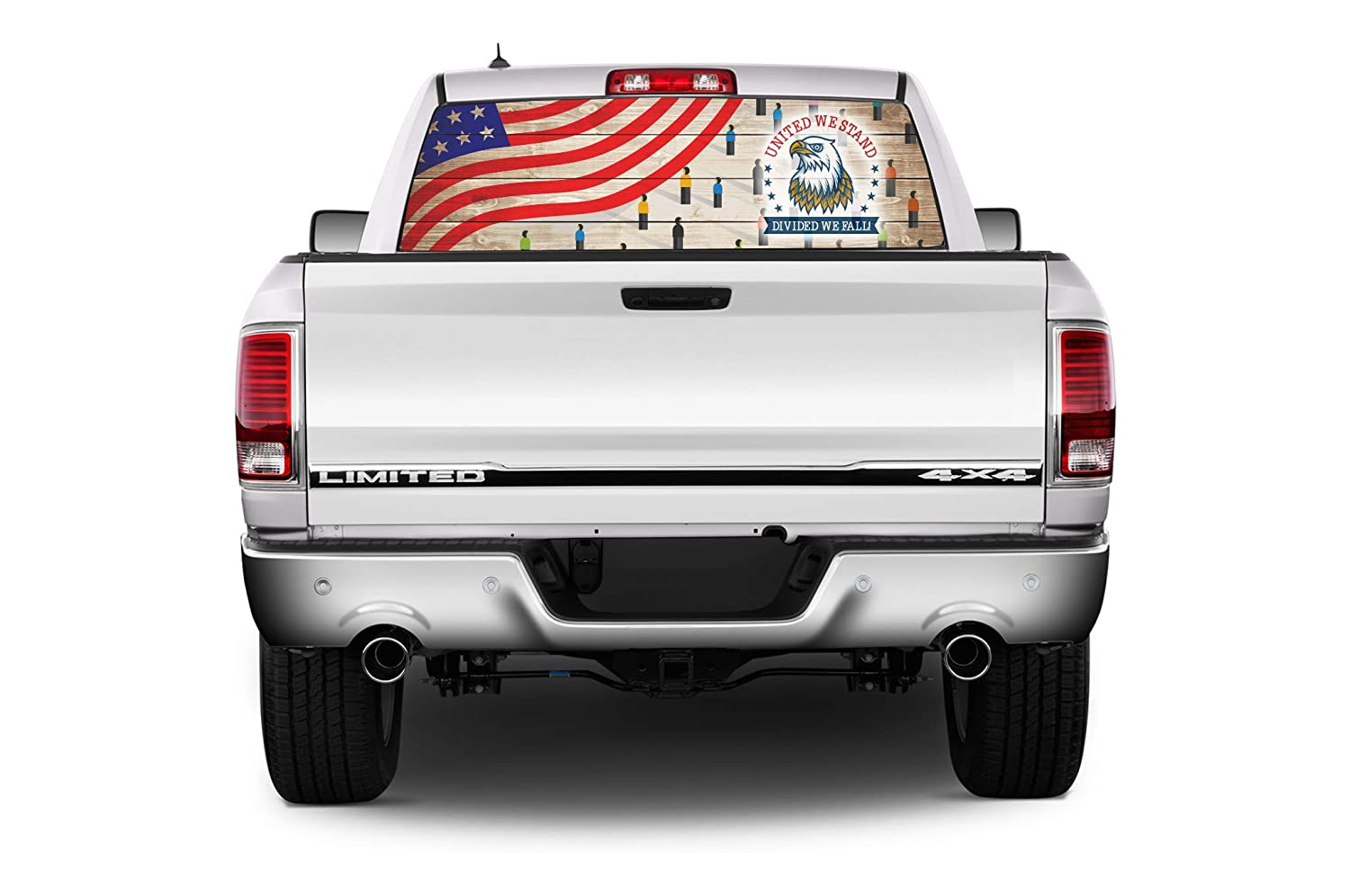 Pin Ball Pick-Up Truck Perforated Rear Window Wrap Water Ball