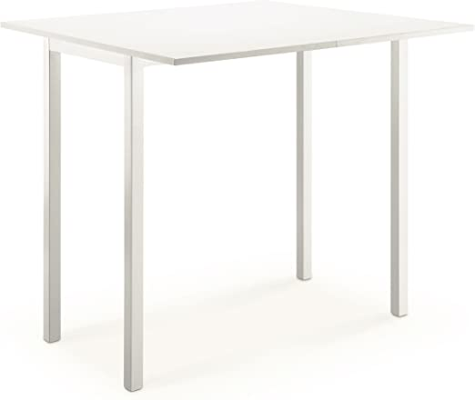 Kitchen mesa extensible (80 x 45/80 cm blanca: Amazon.es: Hogar
