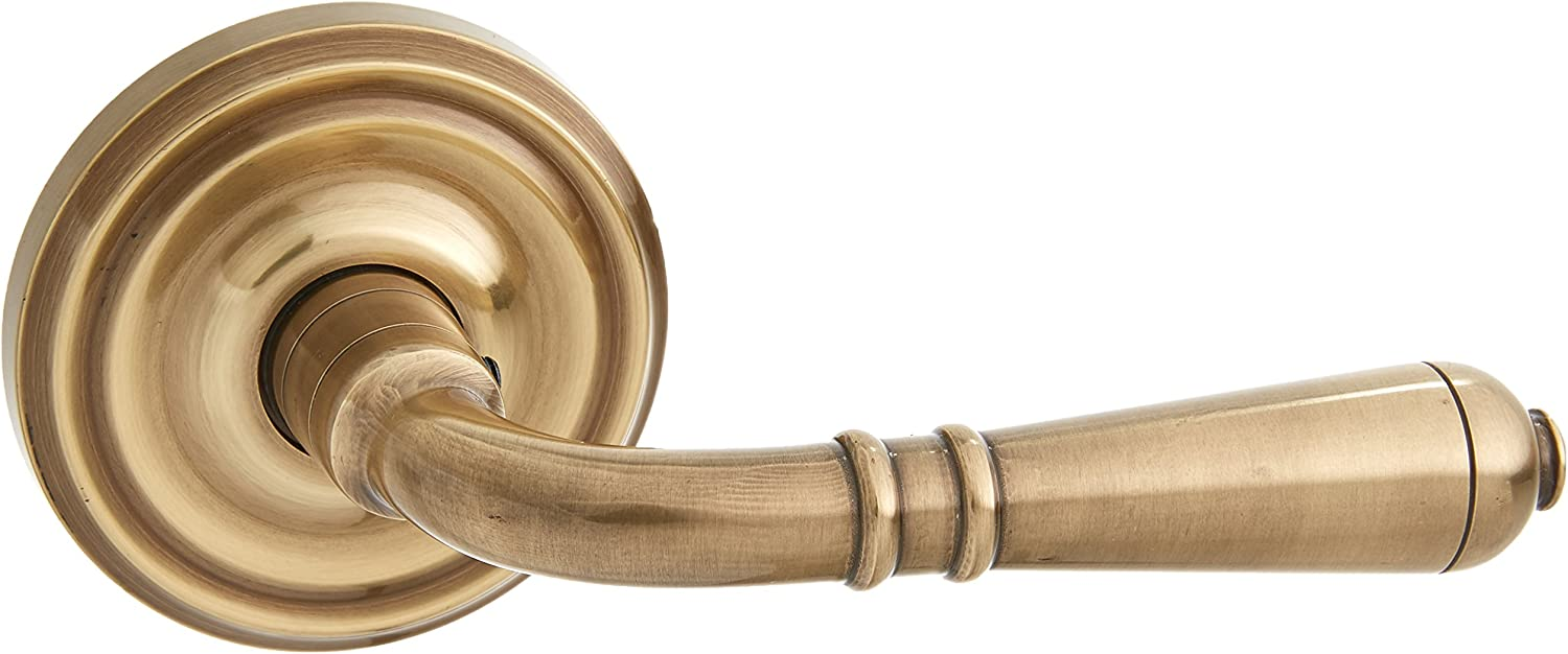 Old Door Knobs. Classic Rosette Set With Turino Levers Right Hand Double Dummy In Oil Rubbed Bronze