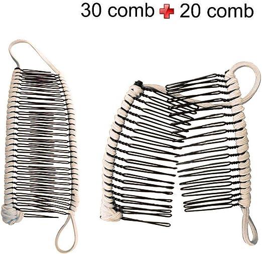 2pcs Fashion Banana Fish Hair Clips Comb Grip Ponytail Holder Accessories