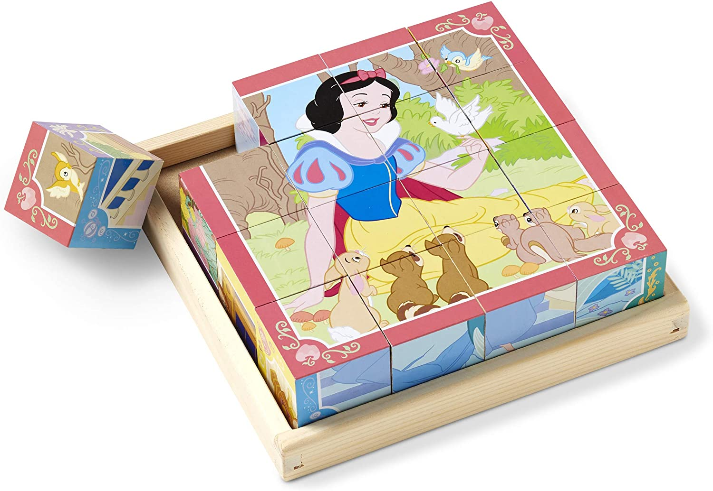 Melissa /& Doug Disney Princess Wooden Cube Puzzle