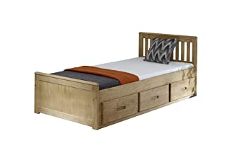 3ft Single Captain Cabin Storage Solid Pine Wooden Bed Bedframe