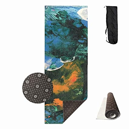 Amazon.com : Shllwe Mini World Environmental Blues Yoga Mat ...