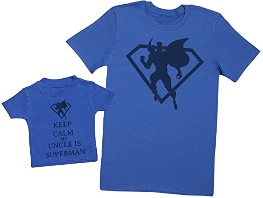 219661621fb8d Keep Calm My Uncle Is Superman - Matching Father Baby Gift Set ...