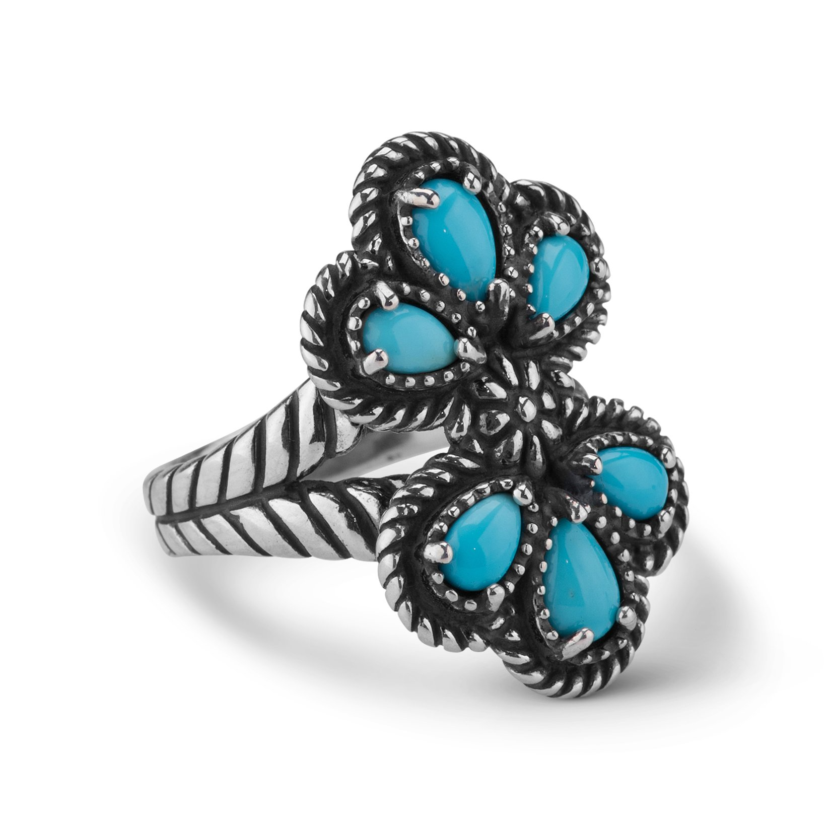 American West Sleeping Beauty Turquoise Cluster Ring