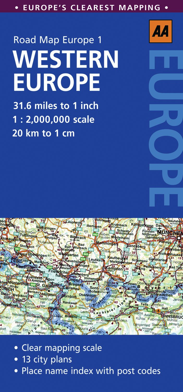 road map western europe aa road map europe aa publishing 9780749568351 amazoncom books