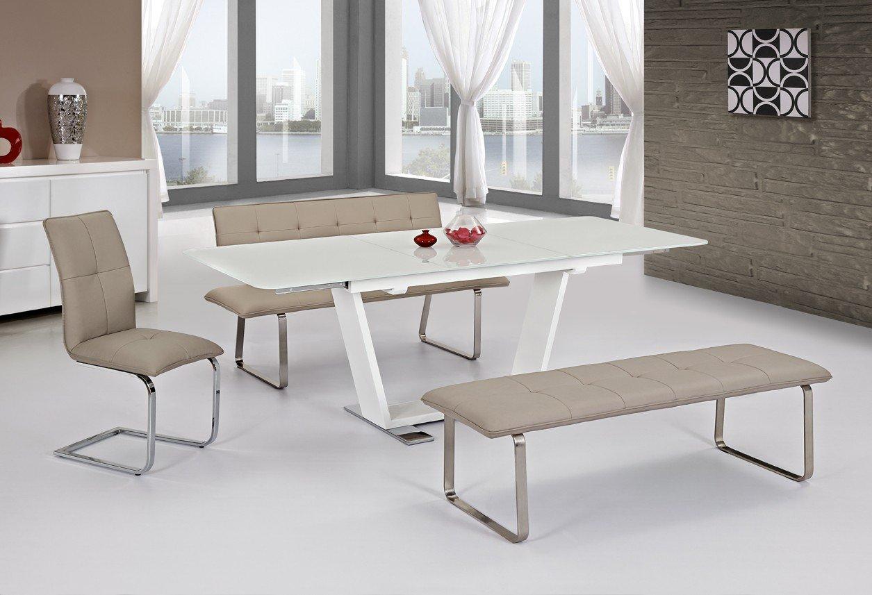 kchentisch glas ausziehbar great esstisch wei volgan in glas mit kopfauszug pharao de weiss. Black Bedroom Furniture Sets. Home Design Ideas