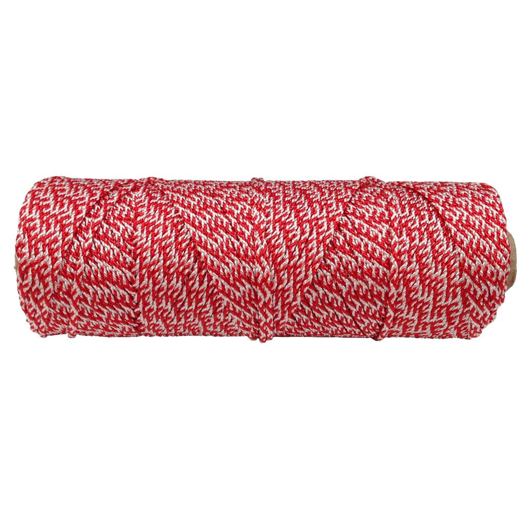 Gardening - SGT KNOTS Marking Camping for Crafting 1.6mm Braided Polyester Twine 300 ft on Tube DIY Projects White /& Red Solid Braid Craft Twine Marine//Water Uses