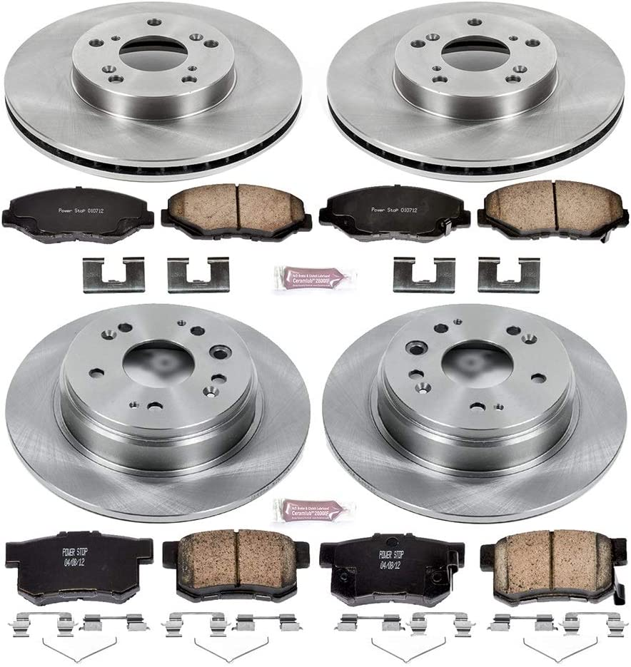 Autospecialty KOE6172 Daily Driver 1-Click OE Replacement Rear Brake Kit