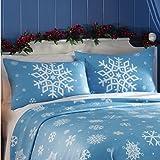 Fleece Snowflake Pillow Shams