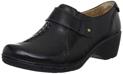 fa0b13f7cb3e9b Ladies Clarks Wedge Heeled Shoes Un Hayley - Black Leather - UK Size 4.5D -