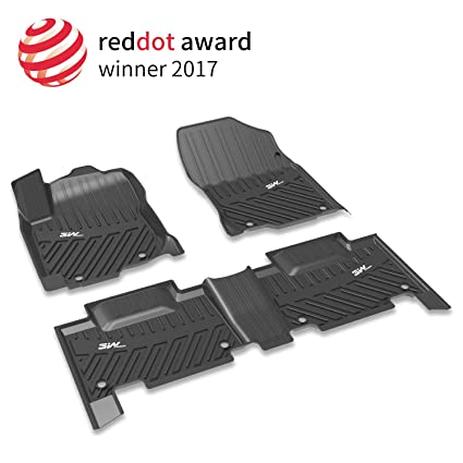 3W Nissan Rogue Floor Mats (2014 2018)   Heavy Duty All Weather Car