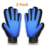 Pet Grooming Glove,2 Pack Pet Dog Hair deShedding Tools,Cat Brushing Glove Hair Removal Pet Gloves Massage Brush by Anano