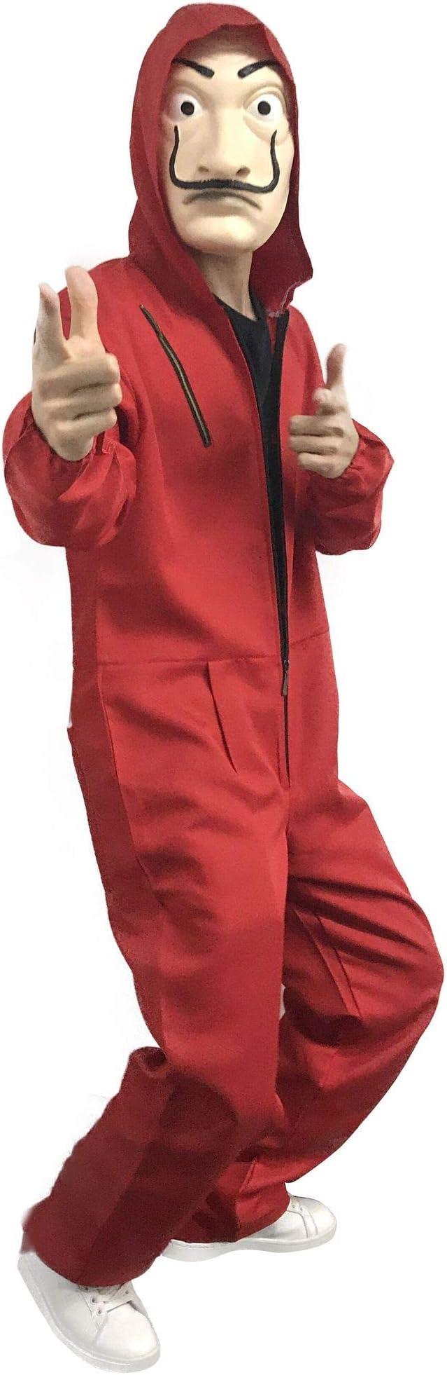 Small D/éguisement La CASA De Papel sayfat Combinaison Rouge