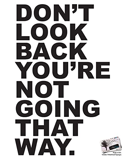 motivational quotes vinyl wall decal don t look back you re not