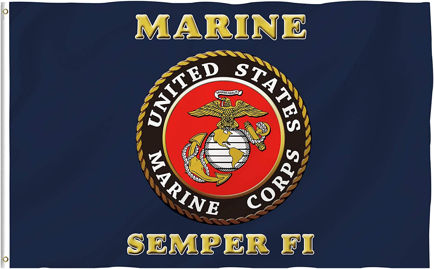 Bonsai Tree 3x5 Feet USMC Marine Corps Flag - Vivid Color and Fade Resistant and Double Sided - Military Flags Polyester Brass Grommets Us Army Home Decorations