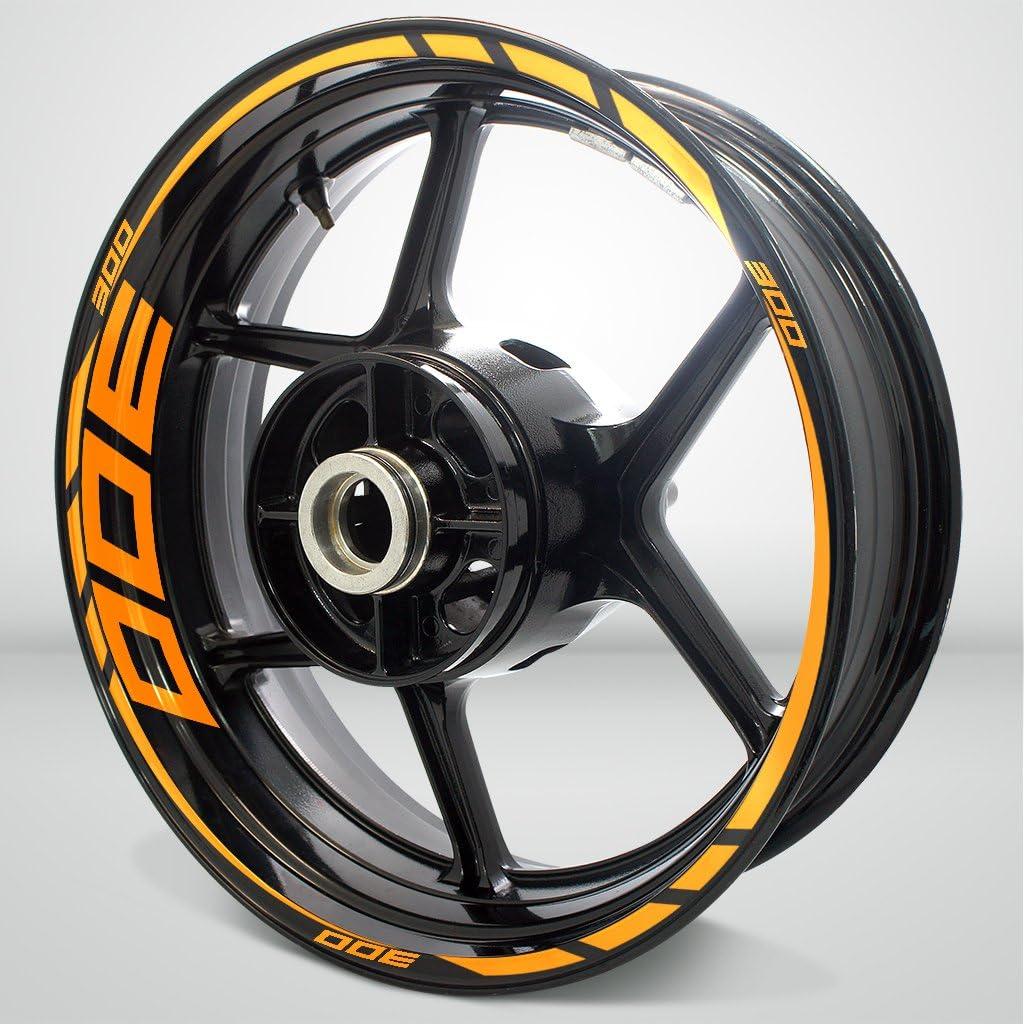 Gloss Orange Motorcycle Rim Wheel Decal Accessory Sticker for Kawasaki Ninja 300